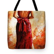 Lady In Red  39 Tote Bag