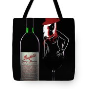 Lady In The Glass Tote Bag