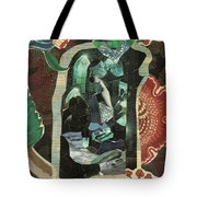 Lady In The Green Mirror Tote Bag