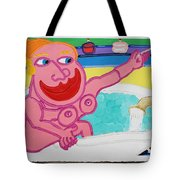 Lady In The Tub Tote Bag
