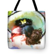 Lady In The White Hat And Trim Tote Bag