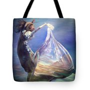 Lady In Water Oil On Canvas Painting Realsim  Tote Bag