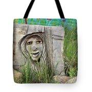 Lady In Wood Tote Bag