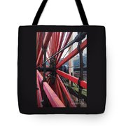 On The Isle Of Man, Lady Isabella Wheel Close Up Tote Bag
