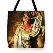 Lady Justice Sepia Tote Bag