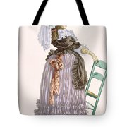 Lady Leaning On Chair, Engraved Tote Bag