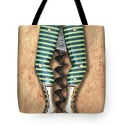 Lady Legs Corkscrew Painting Tote Bag