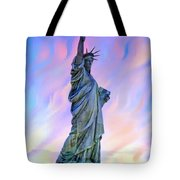 Lady Liberty Blues Tote Bag