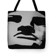 Lady Liberty In Black And White Tote Bag