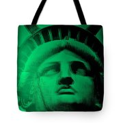 Lady Liberty In Copper Green Tote Bag