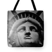 Lady Liberty Red White And Blue Tote Bag