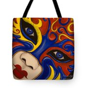 Lady Of Fire And Ice Tote Bag
