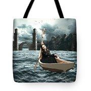 Lady Of Llyn-y-fan Fach Tote Bag by Linda Lees