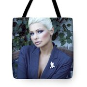 Lady Of Solitude Palm Springs Tote Bag by William Dey