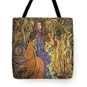 Lady Of Swirl Tote Bag