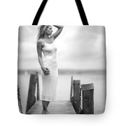 Lady On A Base 4 Tote Bag