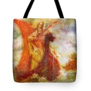 Lady On A Boat Tote Bag