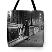 Lady On O'connell Bridge Dublin Tote Bag