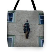 Lady On The Wall Tote Bag