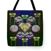 Lady Panda Welcomes Spring In Love And Light And Peace Tote Bag