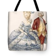 Lady With Her Husband Attending A Court Tote Bag