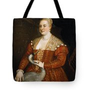 Lady With Heron Tote Bag