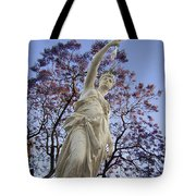 Lady With The Light Tote Bag
