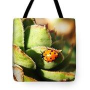 Ladybug And Chick Tote Bag by Chris Berry