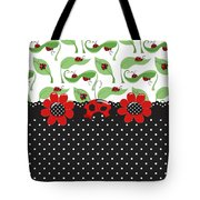 Ladybug Flower Power Tote Bag