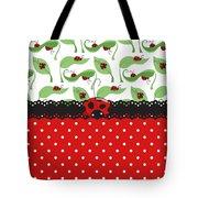Ladybug Impression Tote Bag