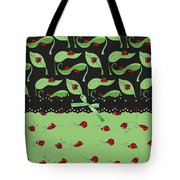 Ladybug Splash Tote Bag