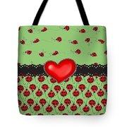 Ladybugs Hearts Desires  Tote Bag
