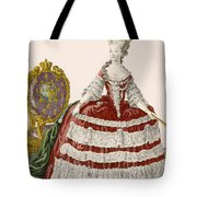 Ladys Court Gown In Dark Cherry Tote Bag