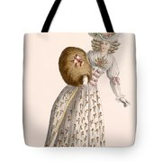 Ladys Gown Embroidered With Small Tote Bag