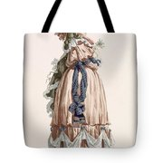 Ladys Summer Walking Gown, Engraved Tote Bag