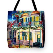 Lafitte Guest House At Christmas Tote Bag