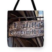 Lafittes Blacksmith Shop Sign Tote Bag