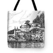 Lago Di Como-lenno - Vila Del Bilbianello Tote Bag