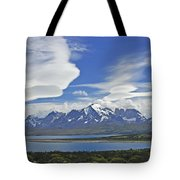 Lago Sarmiento And The Paine Massif Tote Bag