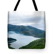 Lagoa Do Fogo Panoramic View Tote Bag