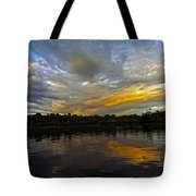 Lagoon Sunset In The Jungle Tote Bag