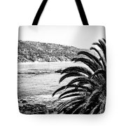 Laguna Beach California In Black And White Tote Bag