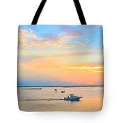 Laguna Madre Fishing At Sunset Tote Bag