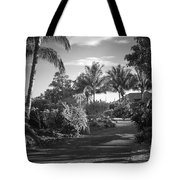 Lahaina Palm Shadows Tote Bag