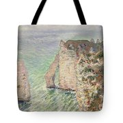 Laiguille And The Porte Daval   Etretat Tote Bag