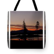 Lake Almanor Sunset Triptych Tote Bag