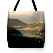 Lake And Town, Umbria, Italy Tote Bag