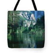 Lake And Trees, California Tote Bag