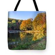 Lake At Chilhowee Tote Bag by Debra and Dave Vanderlaan