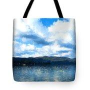 Lake Background Tote Bag